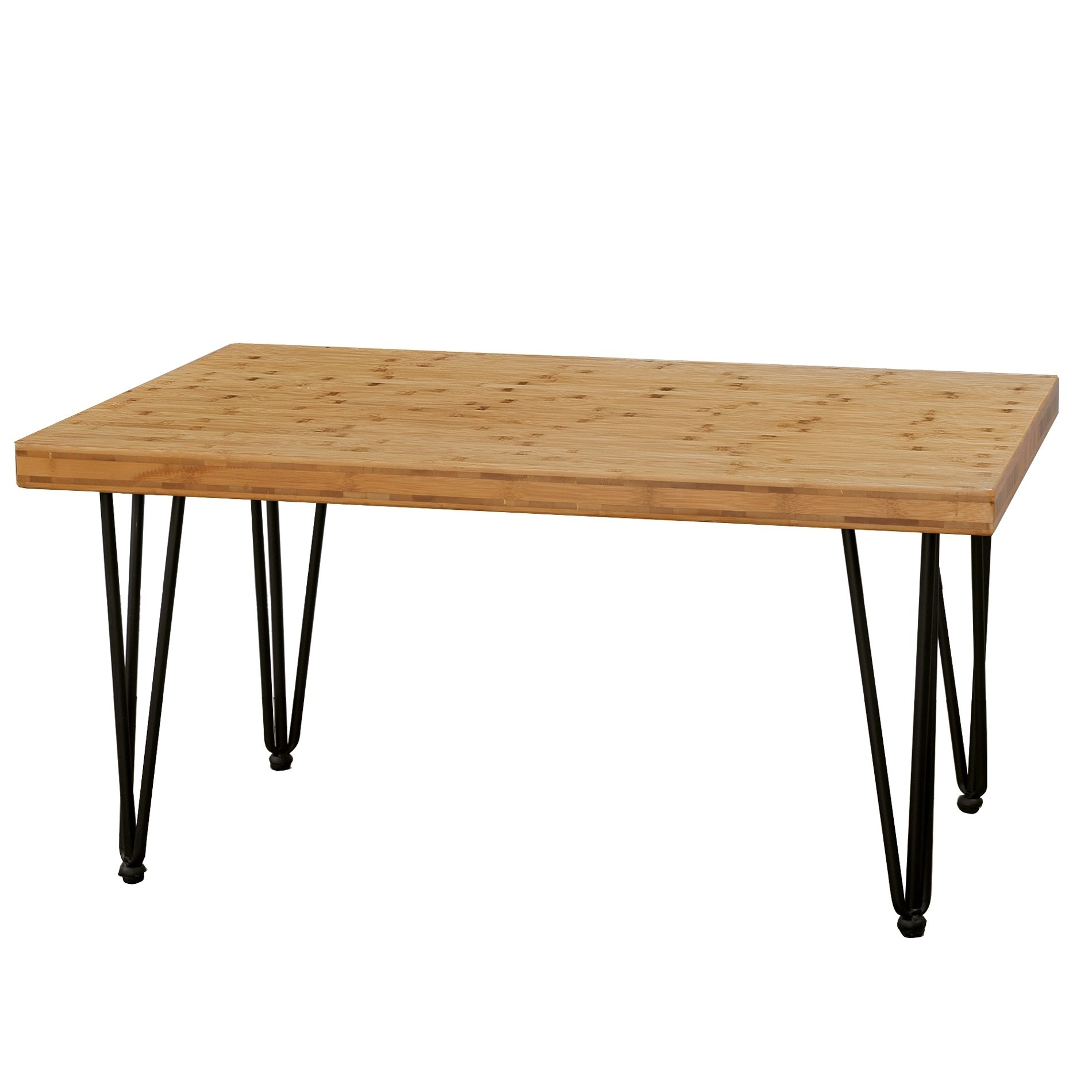 boon living bamboo wood and metal coffee table with hairpin natural legs round accent screw free shipping today patio side clearance dining room welcome furniture all modern lamps