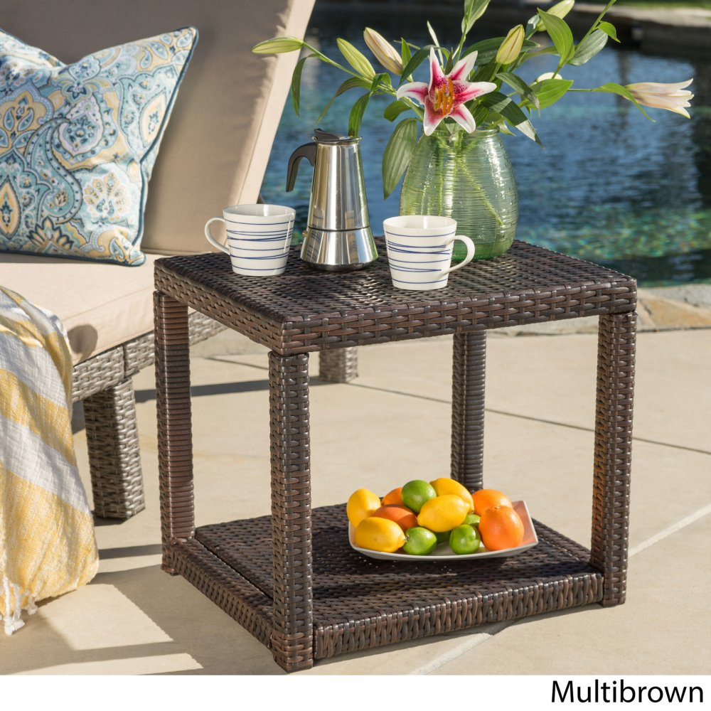 boracay outdoor wicker accent table options brown middletown patio loading build your own barn door retro modern furniture stopper metal console with drawers low side companies