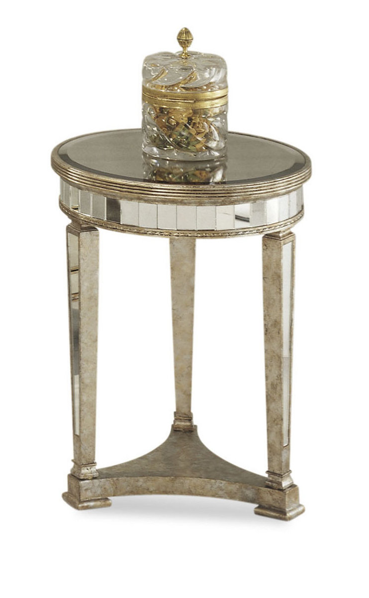 borghese mirrored round end table antique mirror silver half bronze accent timber inch square tablecloth white lamp cube hexagon coffee unusual ceiling lights wood with metal