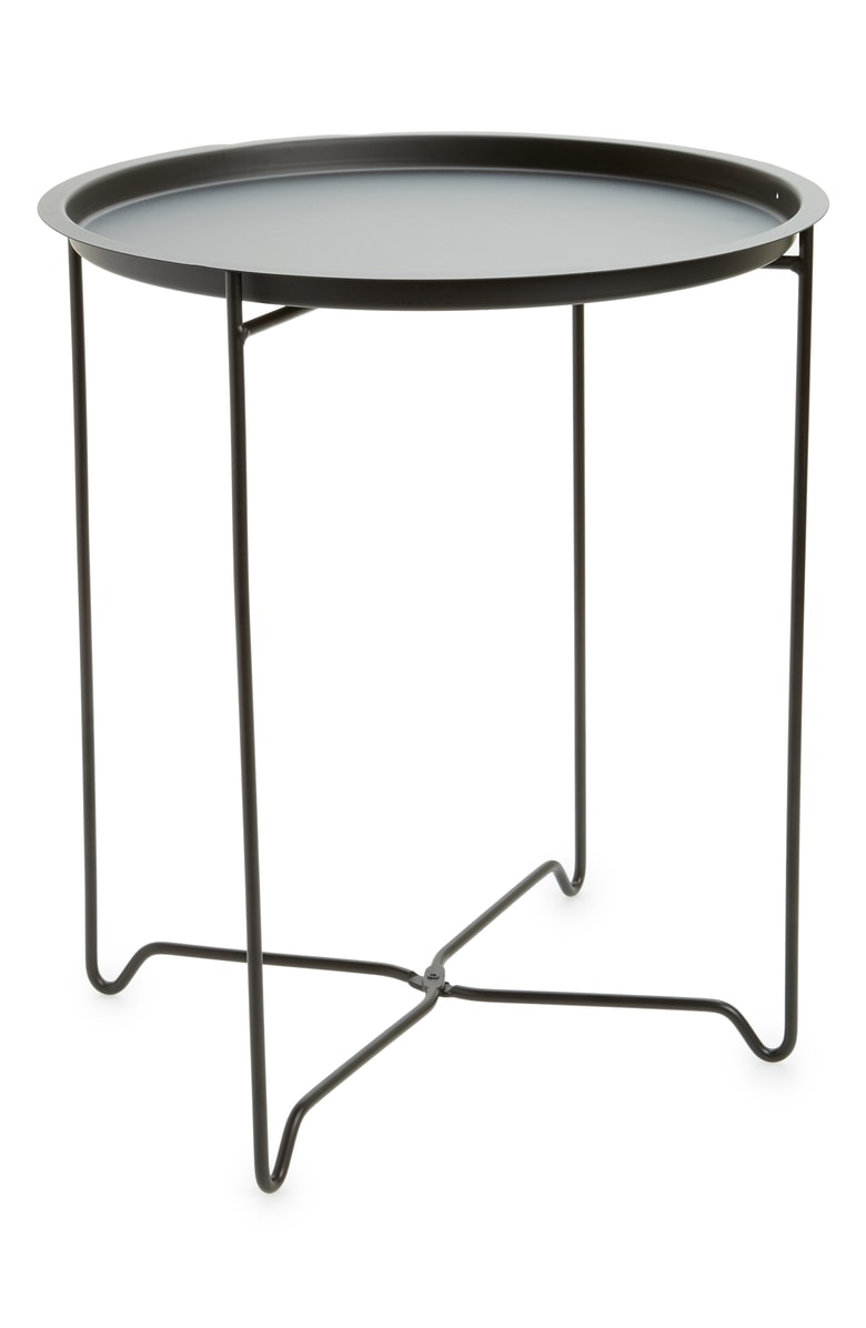 bovi home foldable accent table nordstrom outdoor folding mid century modern corner storage cabinets round with sides coffee linen card tablecloth size matching end tables harvest