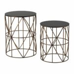 bradfield set drum side tables the lighting gallery uttermost gin cube accent table cherry occasional narrow outdoor dining wine rack white marble and brass coffee centrepiece 150x150