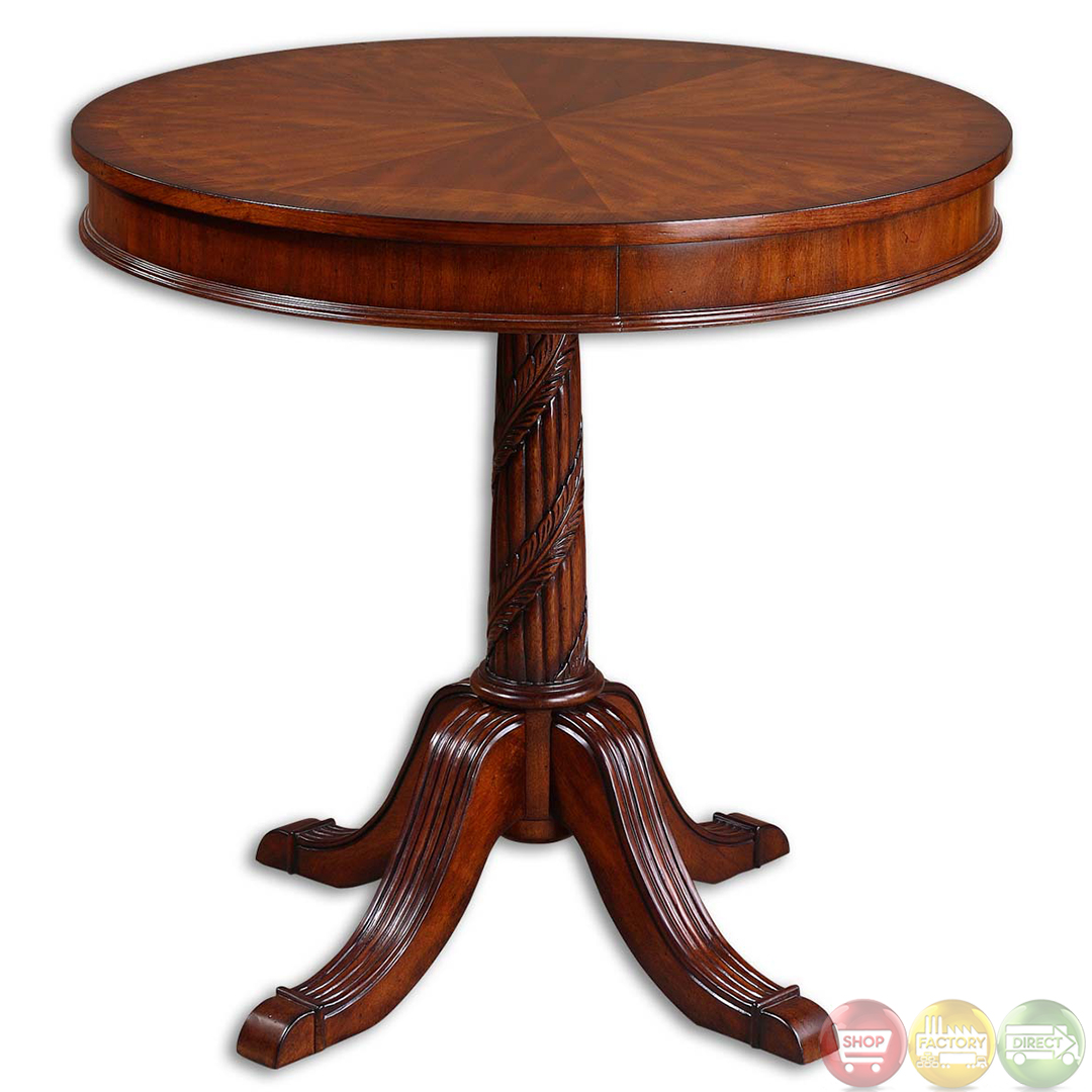 brakefield antique style round pedestal accent table home small tables patio drum white farmhouse kitchen razer mouse ouroboros side cabinet wine rack furniture red lamp bedside