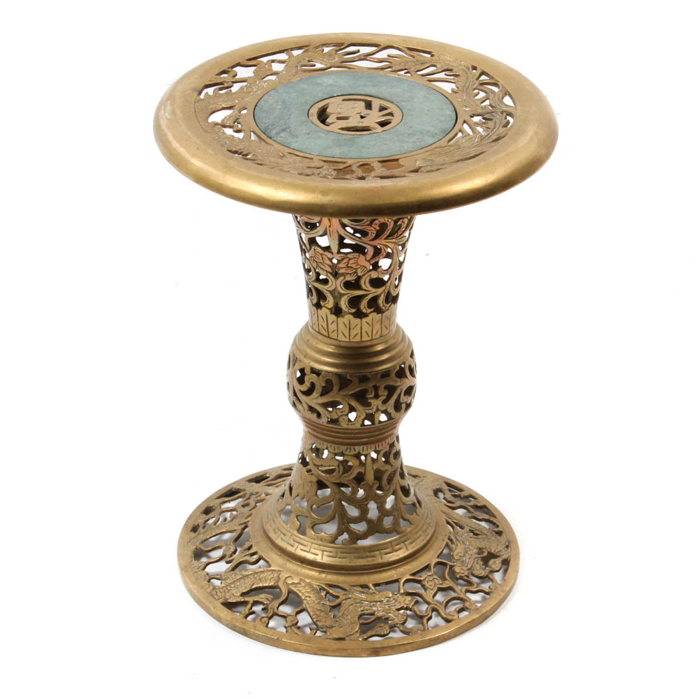 brass accent table drum jems vintage chinese img folding garden and chairs cool end ideas farmhouse dining set silver ice bucket plain lamp outdoor wicker furniture modern for