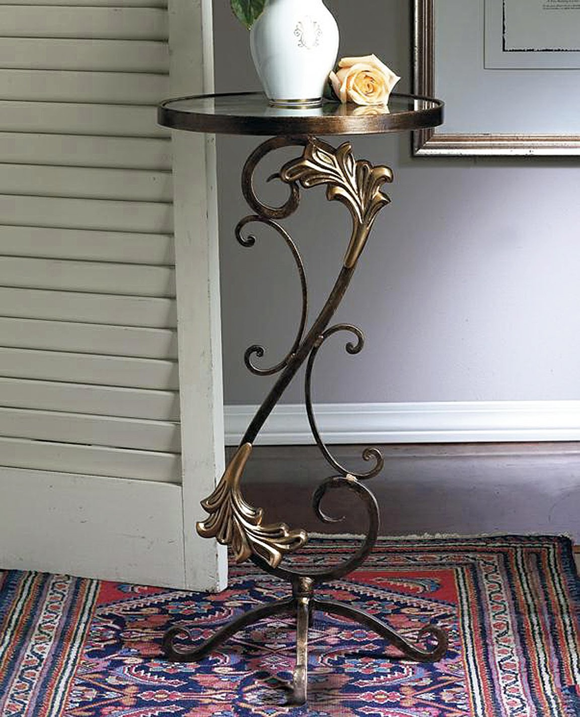 brass accent table find line round get quotations furniture florentine garden bronze iron metal with wine cabinet chair patio set top coffee antique beds small swivel stacking