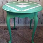 brass accent table the fantastic beautiful queen anne end what and aztec have common makeover green side used same misty emerald lake color microwave cart redid while back inch 150x150