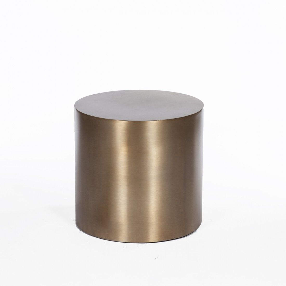 brass drum side table round precious things accent modern reproduction inspired milo baughman cherry nightstand under ikea kids wall storage farmhouse dining set bbq prep winsome