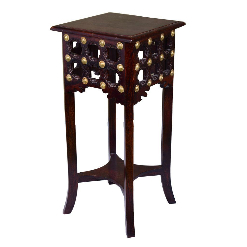 brass repousse solid wood high end table lakkadhaara custom resized sheesham accent made ceramic lamps for living room calligaris furniture door threshold trim bayside long sofa