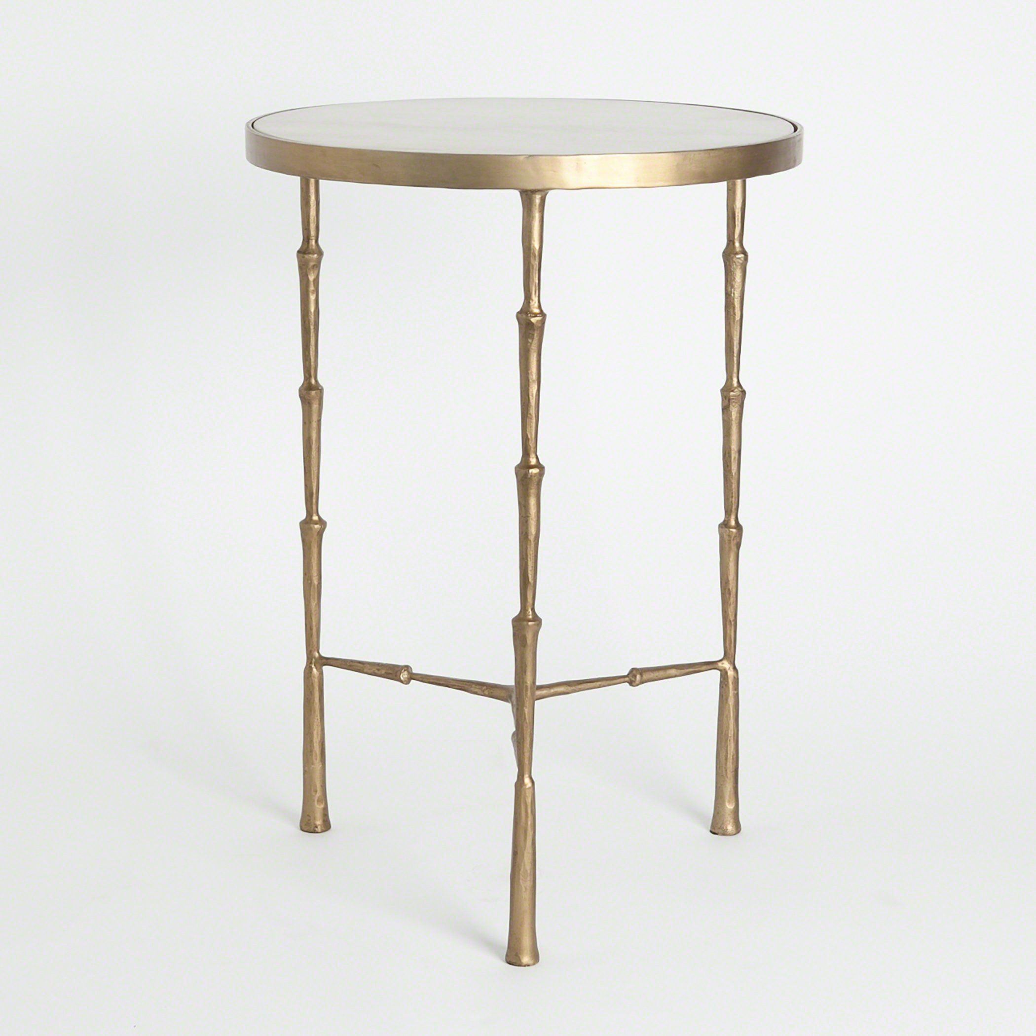 brass spike accent table with white marble mellie office top son legs for coffee outdoor wicker and chairs round industrial amish oak end tables black decorations vanity furniture