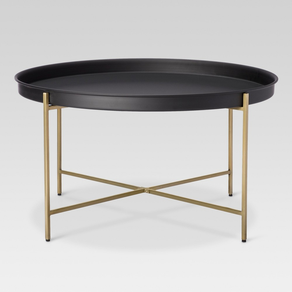 brass tray coffee table threshold black products round accent side end with drawers swivel ikea breakfast patchwork rug replica furniture the bay bar counter nautical console