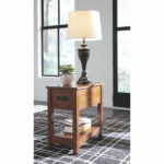 breegin chairside end table ashley furniture home accent lighting redmond narrow sideboard crochet runner mirror top outdoor and chair covers rectangular pottery barn childrens 150x150
