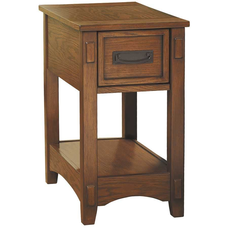 breegin oak chairside end table ashley industrial accent small mahogany side mosaic patio furniture monarch unfinished modern brass lamp petrified wood pier one chair covers black