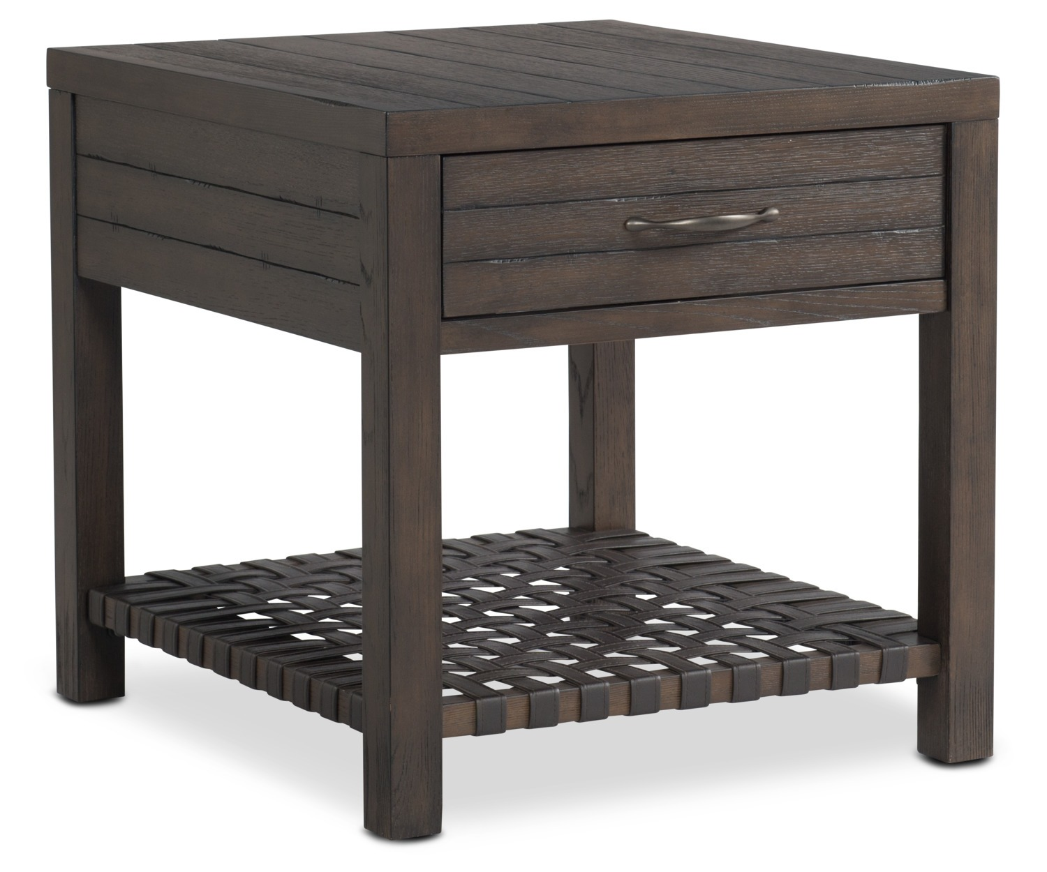 brewer end table dark oak american signature furniture wood accent and occasional garden side tables set two lamps ikea kitchen chairs pottery barn lorraine cement outdoor coffee