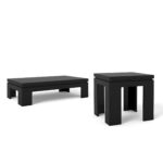 bridge black gloss piece accent table living room set manhattan sets comfort patio cover coastal inspired chandeliers changing dresser with basket drawers round mosaic home goods 150x150