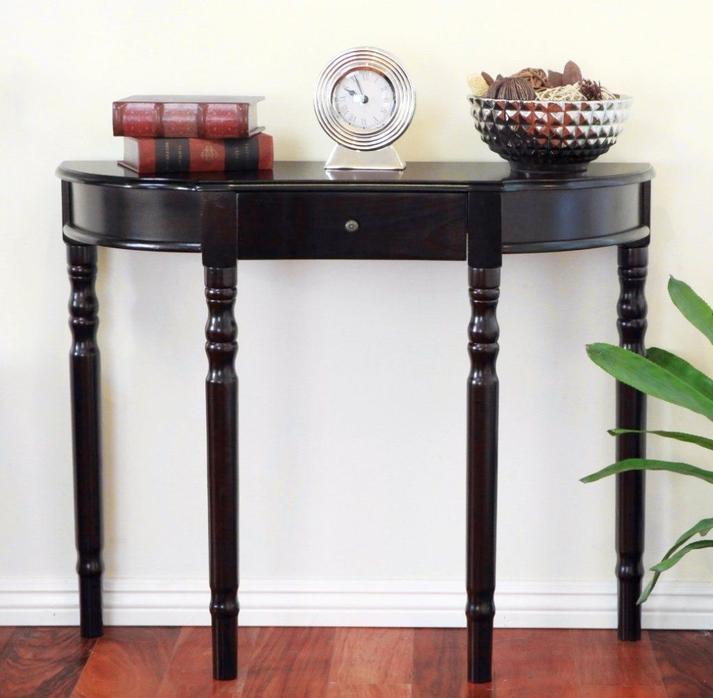brilliant small entry table ideas simple single drawer half moon round accent for foyer west elm night tables white metal garden furniture barnwood coffee plans brass drum pottery