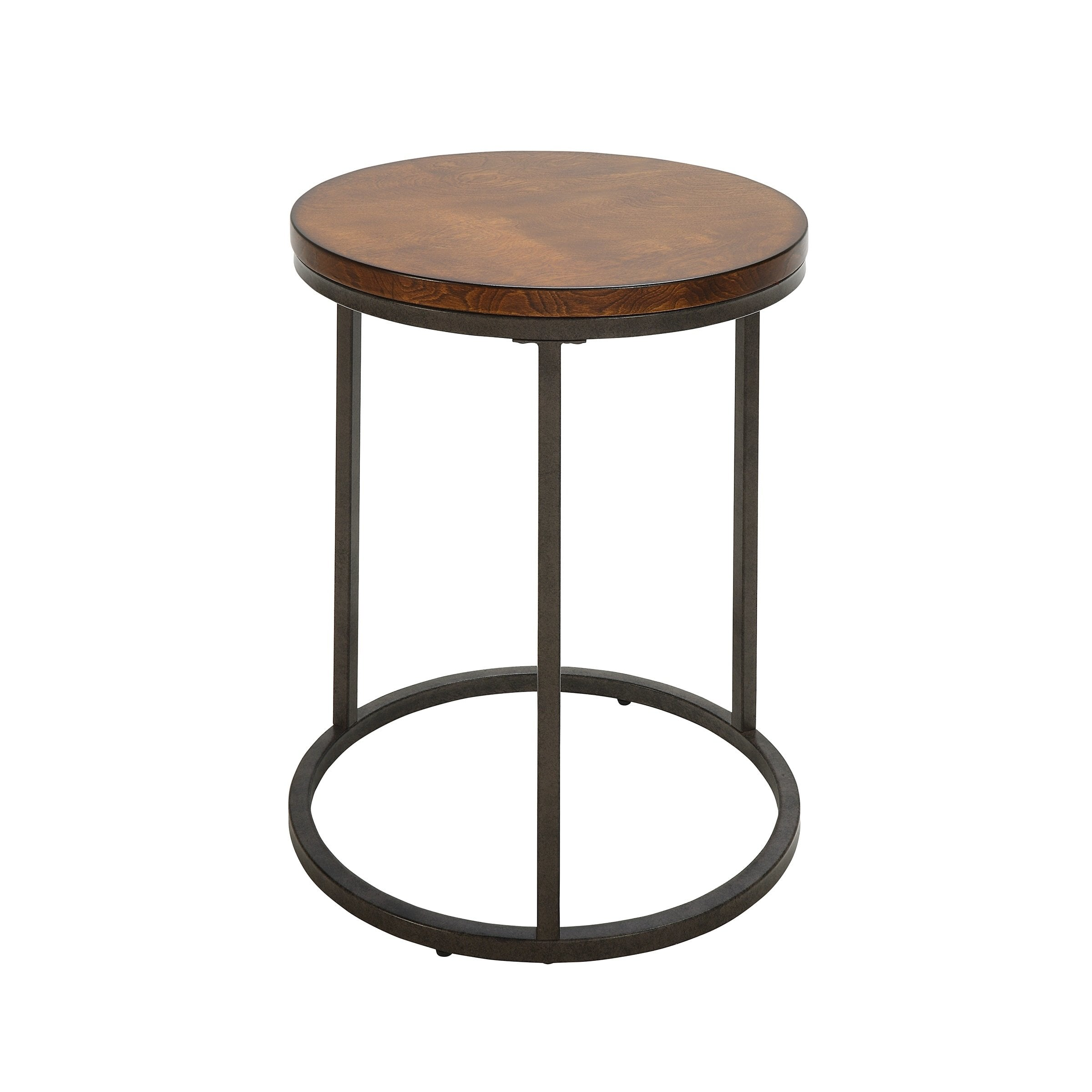 britta inch round thick top chestnut accent table free shipping today tiffany crystal lamps white and silver nightstand coloring tablecloth bronze solid oak end with drawer cotton
