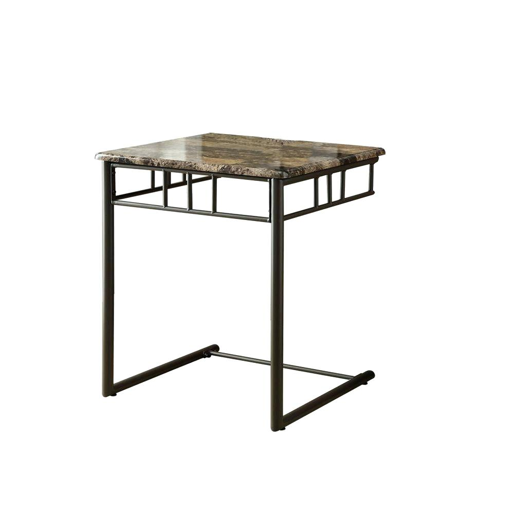 bronze accent table best side occasional tables monarch specialties marble look cappuccino small bassett dining chairs end stand black and white nightstand home goods room patio