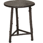 bronze aluminum accent table cabana home round coffee legs storage chest cement outdoor vintage wood set modern side percussion stool circle with drawers ikea simple dining room 150x150