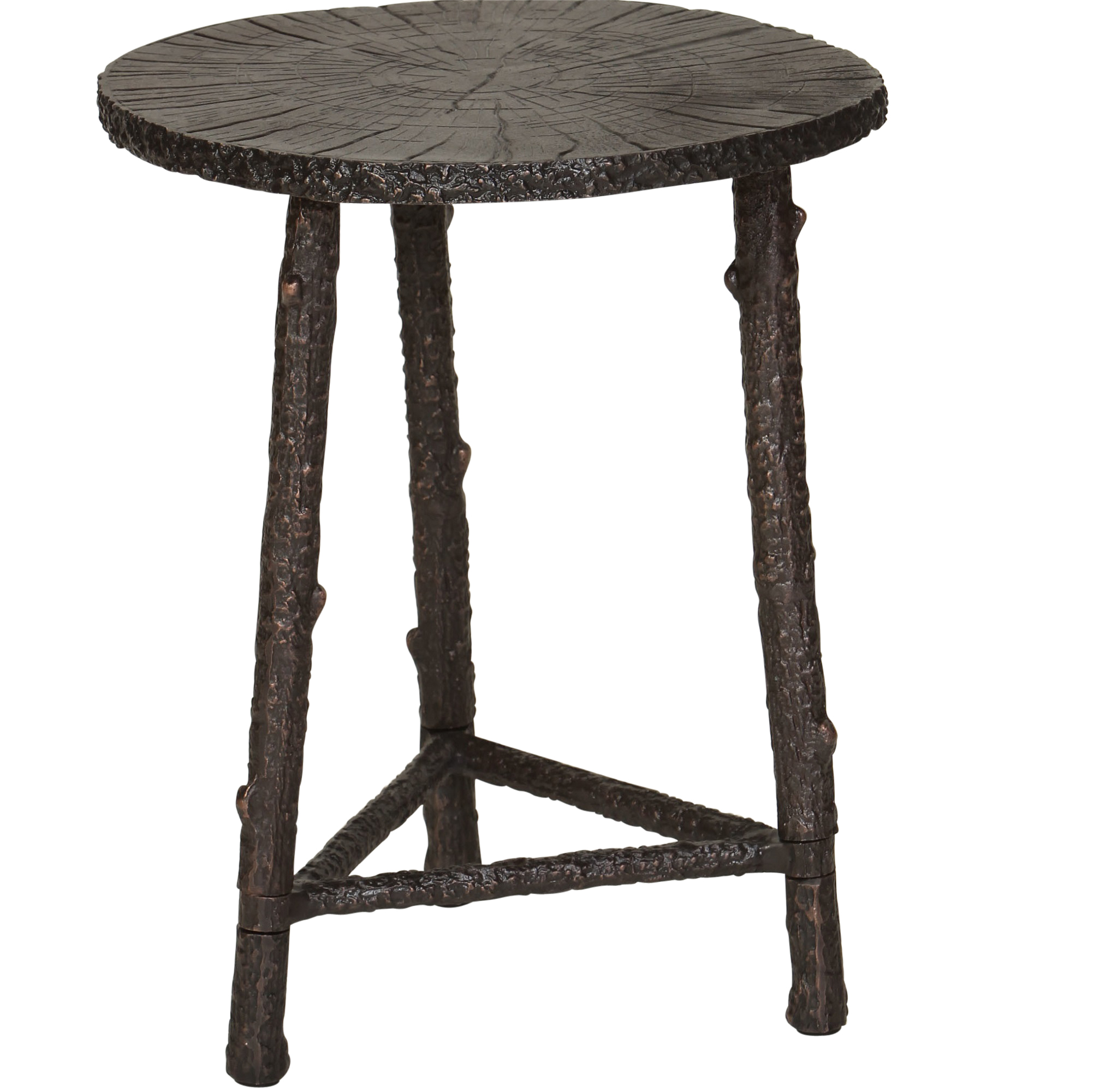 bronze aluminum accent table cabana home round coffee legs storage chest cement outdoor vintage wood set modern side percussion stool circle with drawers ikea simple dining room
