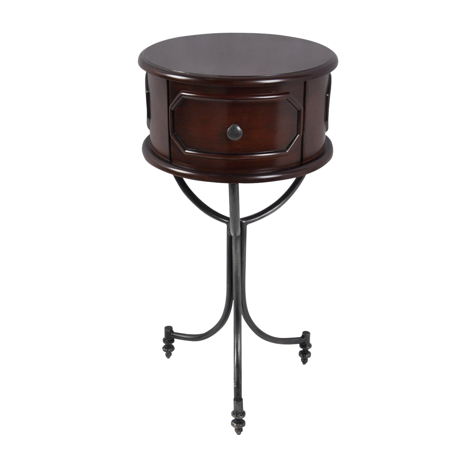 bronze drum table matthew end accent grey occasional chair white round nesting tables wood pedestal diy bar bobs furniture clearance ikea lack shelf shabby chic monarch