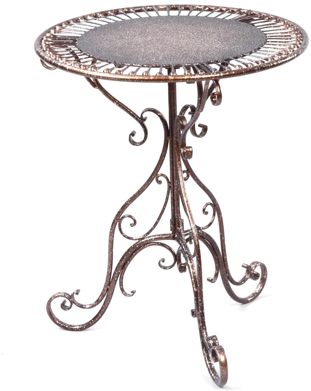 bronze metal decorative accent table coffee console end res tables product information dark gray hand painted chest drawers small outdoor wrought iron pottery barn dining