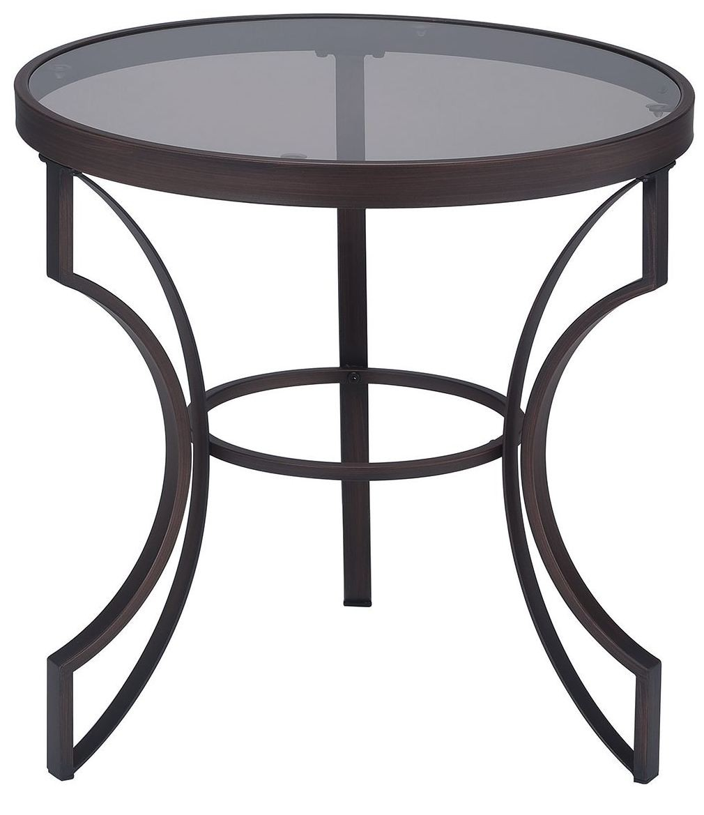 bronze metal frame end table coaster furniture silver accent tables iron cactus grey occasional chair ashley white dresser small outdoor wrought gray and coffee pink side concrete