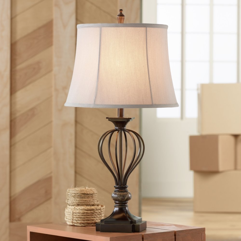 bronze rustic table lamps galliard home design accent decorative chairs reclining living room sets bench pier imports west elm night tables ikea cube storage ethan allen buffet