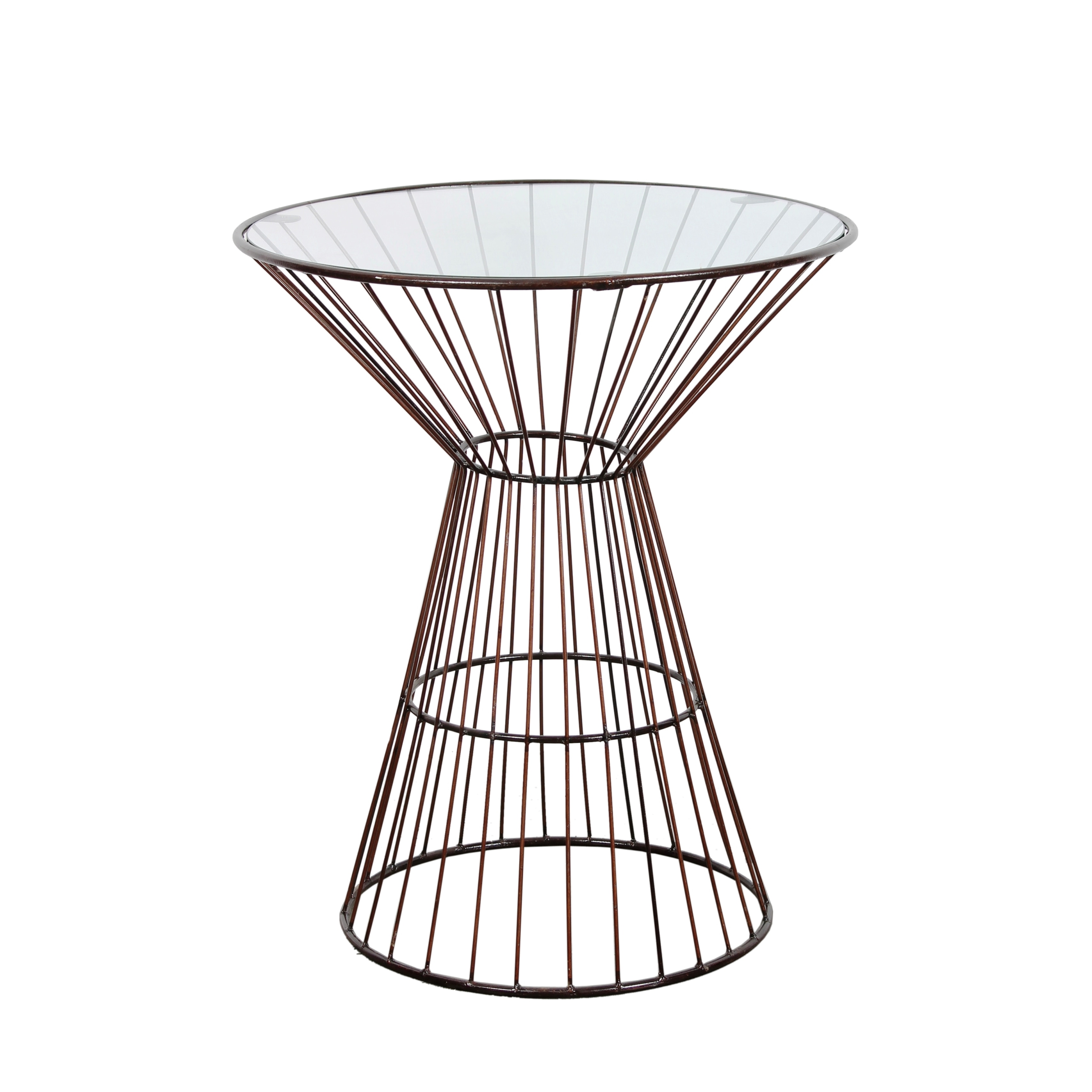 bronze wire frame tall side table with glass top outdoor accent free shipping today drawers ceiling chandelier designer white coffee target futon mattress small drop leaf kitchen