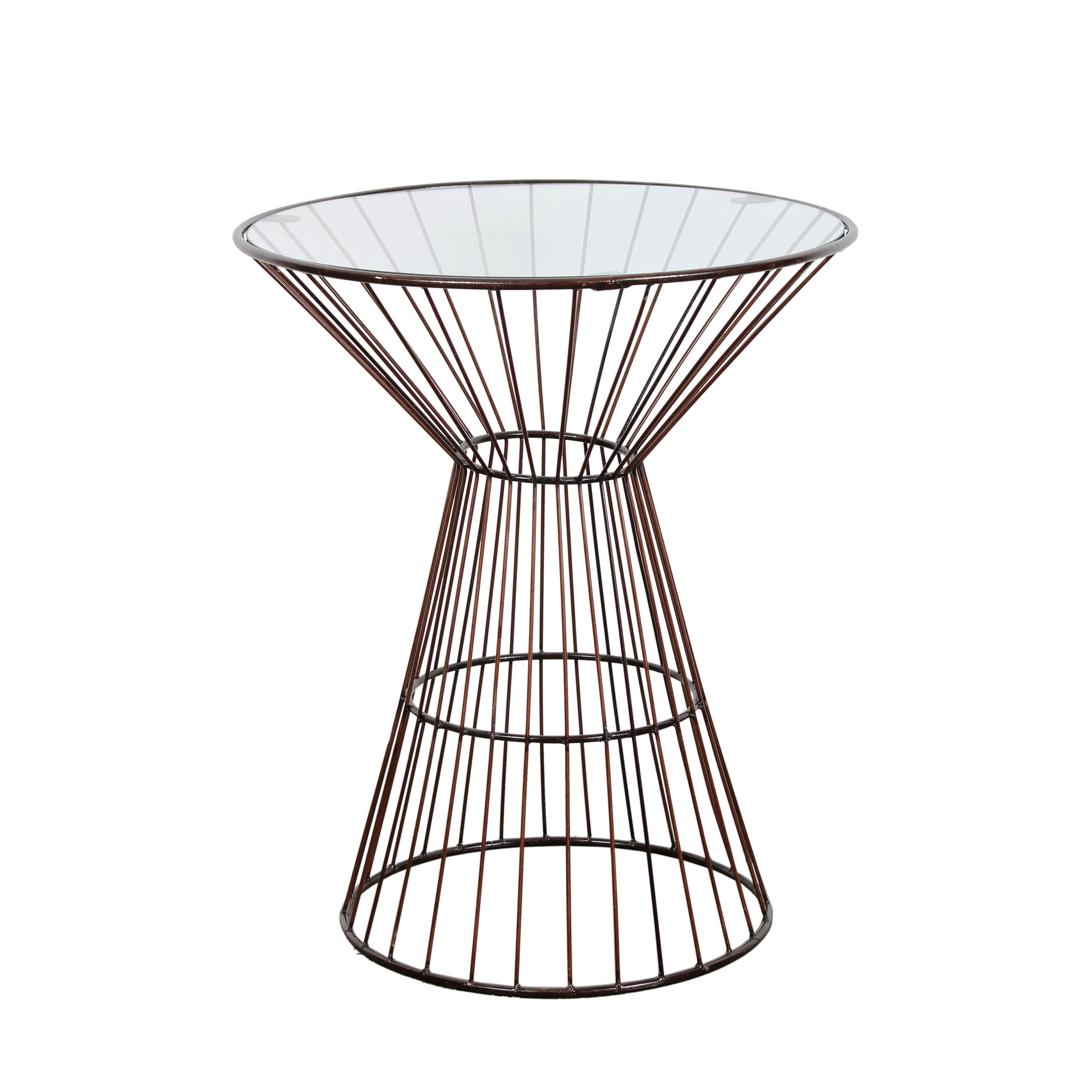 bronze wire frame tall side table with glass top outdoor free shipping today uttermost art teak bench bedside units bistro patio set cover rafferty end ashley furniture white bar