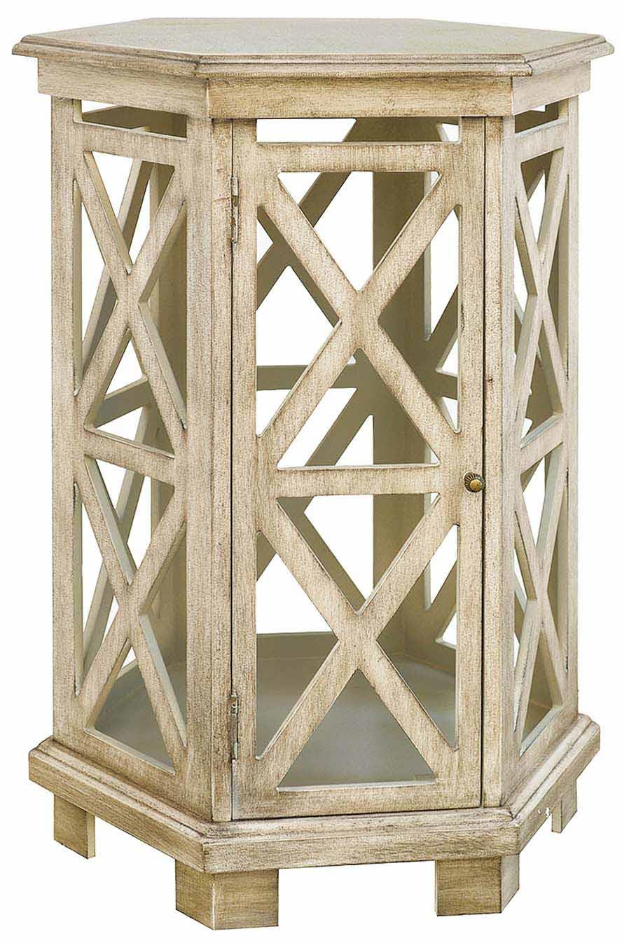 brookline hexagon accent table crestview collection moore furniture bengal manor mango wood twist triangle end nautical style lamps college ping distressed apothecary coffee