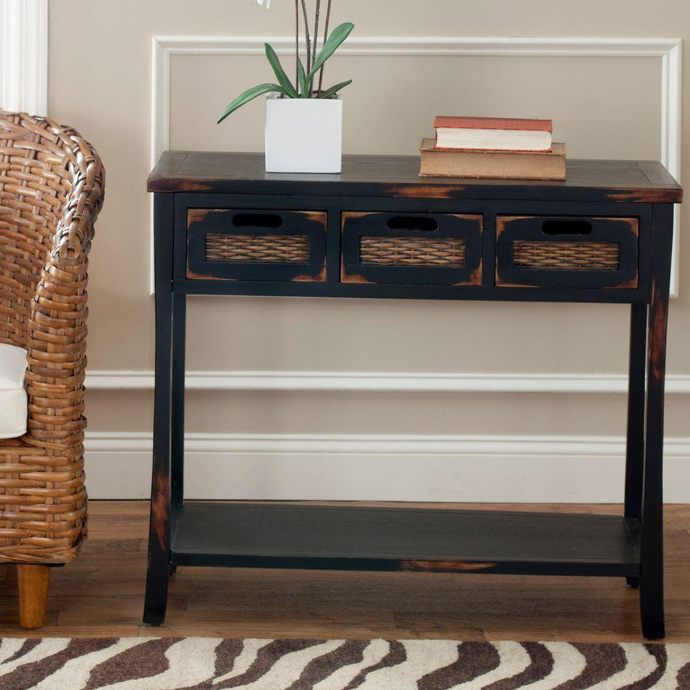 brown console table entryway tables furniture the distressed java safavieh monarch hall accent cappuccino storage drop leaf folding counter height dining room chairs acrylic chest