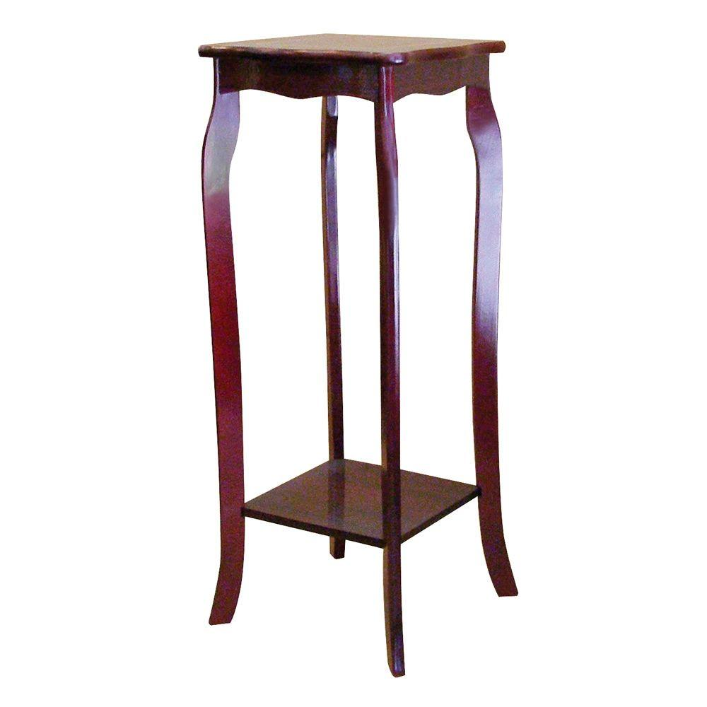 brown indoor plant stand the cherry stands accent table college dorm dale tiffany stained glass lamp shade unique coffee tables toronto gray wilcox furniture nic bench foyer with