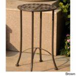 brown outdoor coffee side tables our international caravan mandalay inch patio table bombay outdoors pineapple umbrella accent best furniture hallway lamp round cloths wyatt 150x150