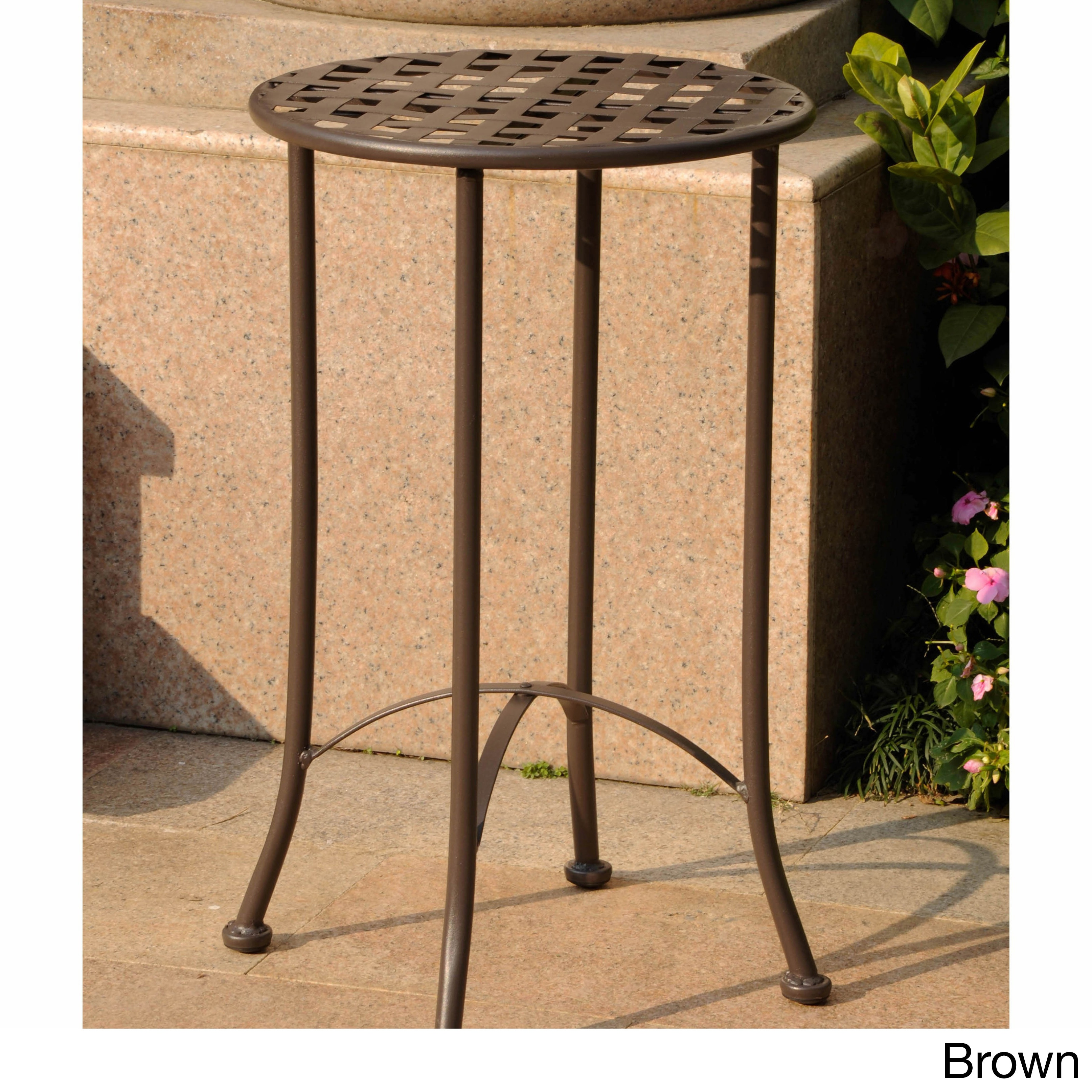 brown outdoor coffee side tables our international caravan mandalay inch patio table bombay outdoors pineapple umbrella accent best furniture hallway lamp round cloths wyatt