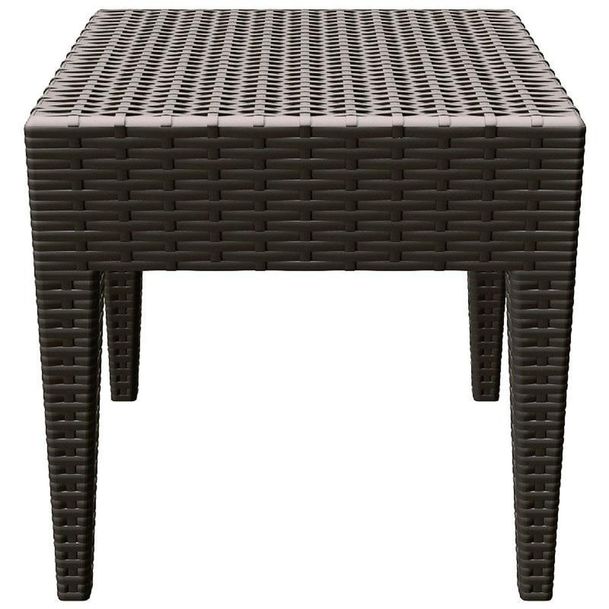 brown outdoor side table bizchair compamia cmp gray our miami wickerlook resin square now furniture dining large garden pretty storage boxes ikea with umbrella hole round silver