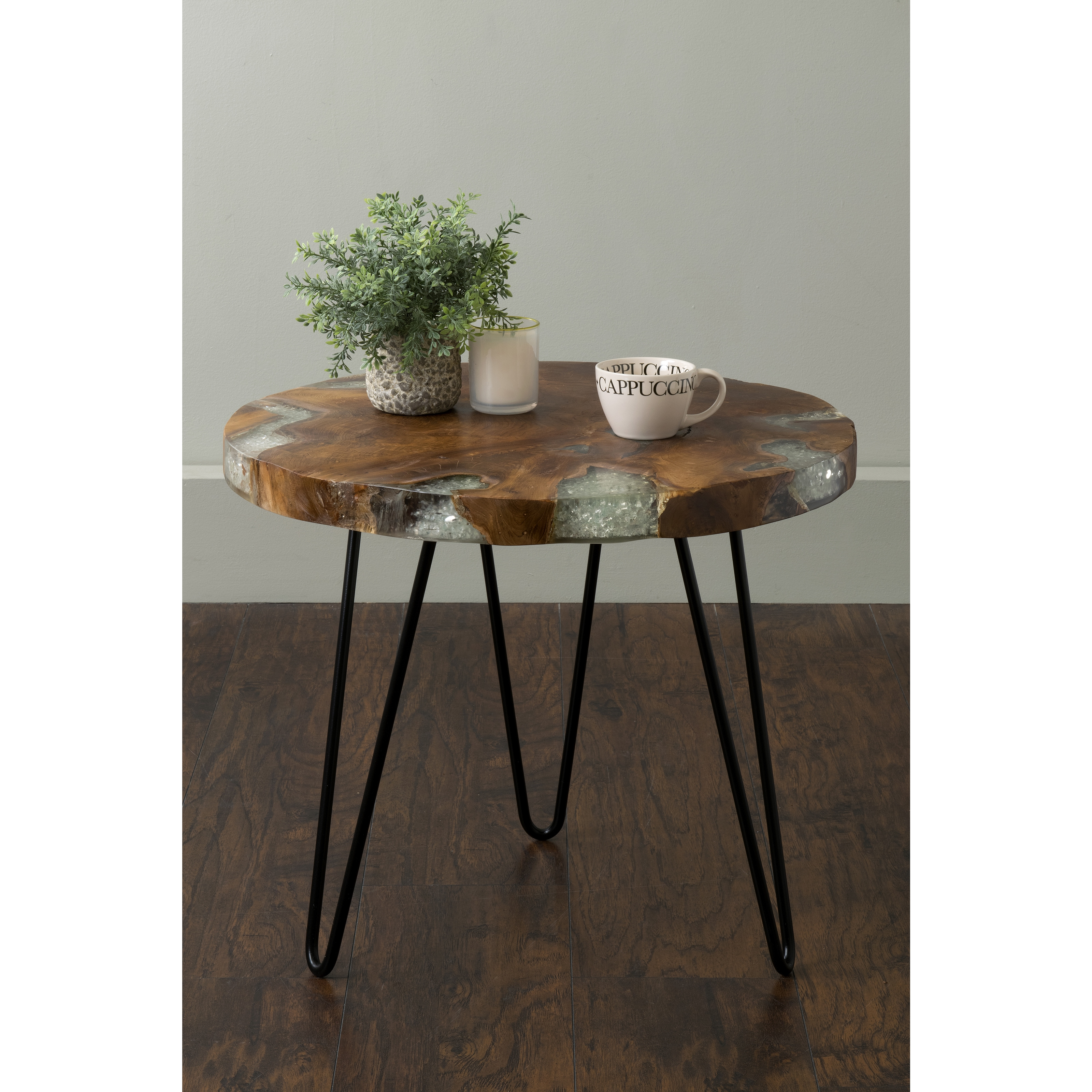 brown round teakwood accent table living room decor east main wellton teak product information coffee with wheels threshold wood and metal ethan allen small acrylic console gold