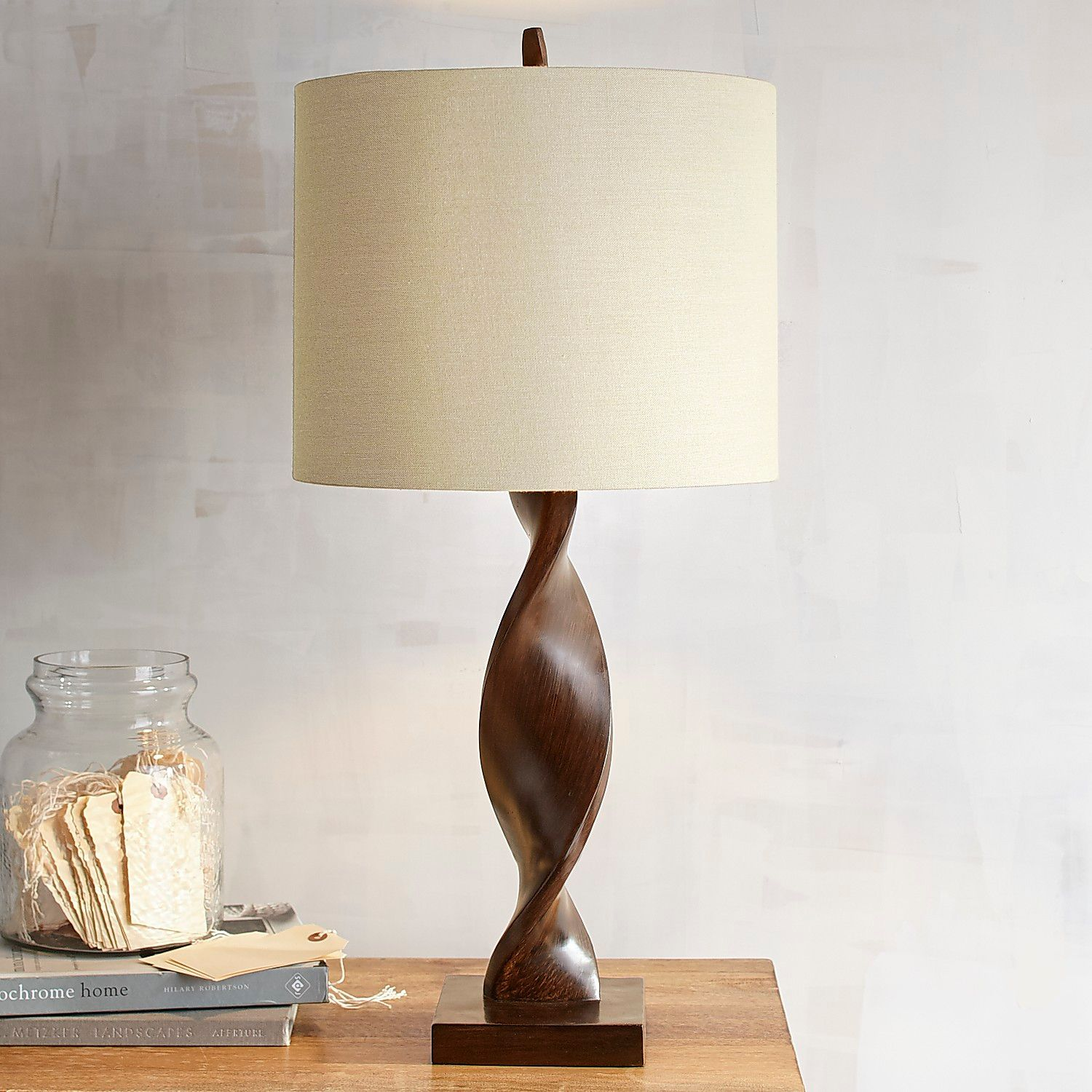 brown twist table lamp pier imports one accent lamps glass mirror nightstand insulated ice bucket counter height round pub dale tiffany dragonfly ikea small square outdoor wicker