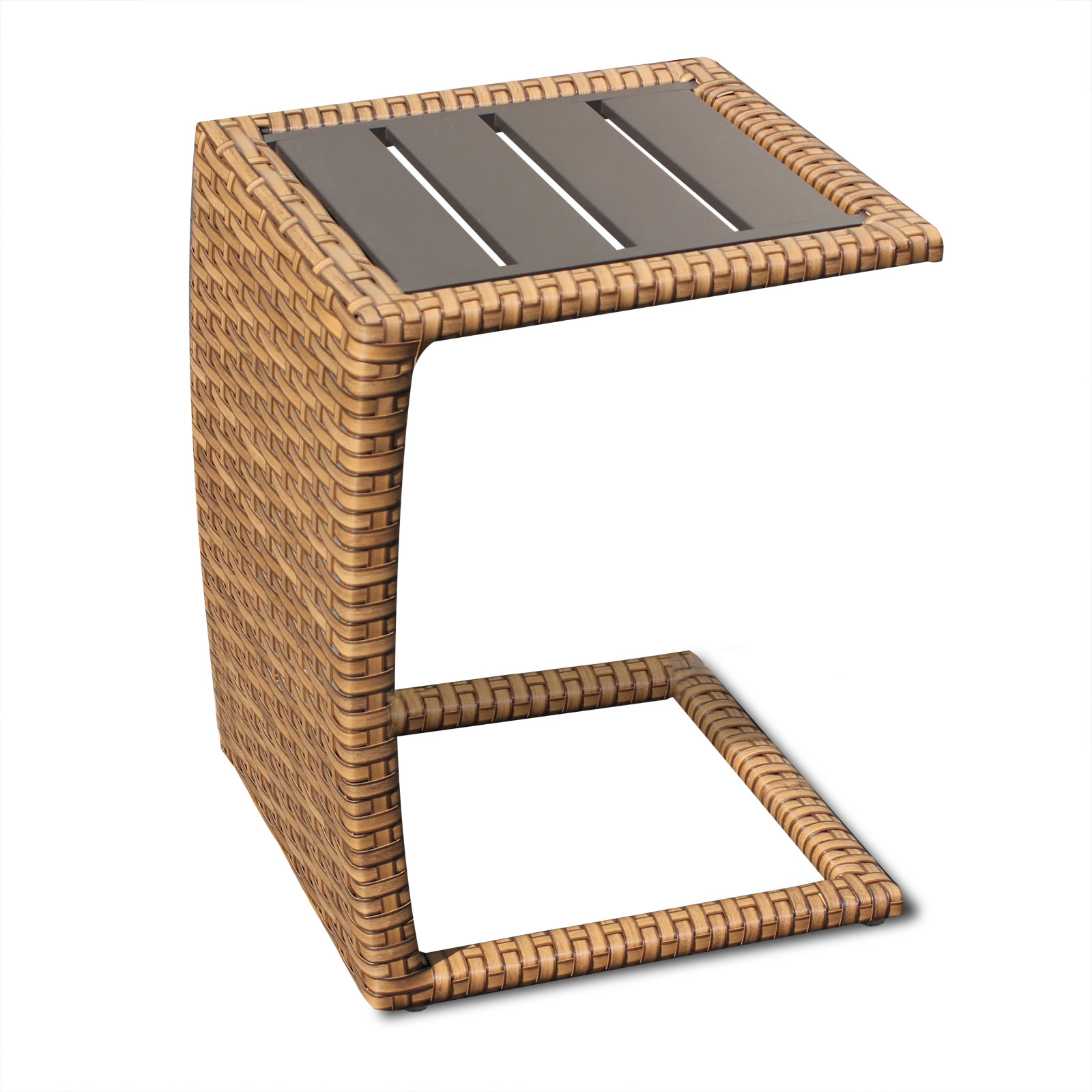 brown wicker side table outdoor patio tuscan design furnishings night lamp pottery barn furniture large round dining glass top bar sets clearance stained standing nesting sofa