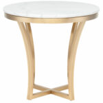 brushed gold side table aurora end hollywood mirrored accent high kitchen and chairs battery powered indoor lamps inch round tablecloth pottery barn circle cream colored coffee 150x150