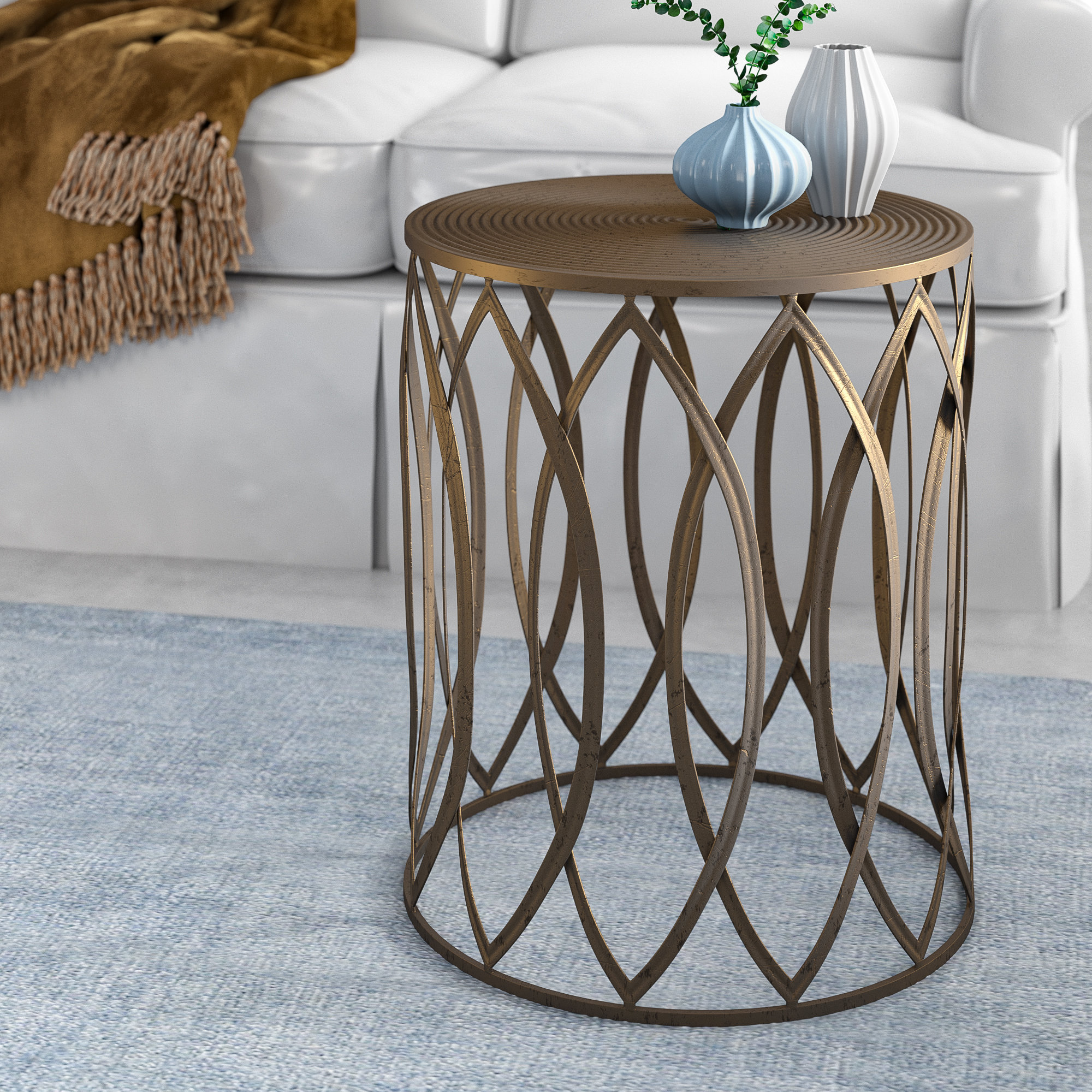 brushed gold side table stanley end wire accent wood kitchen sets white ginger jar lamps french braid quilt pattern runner coffee height round glass nesting tables nautical