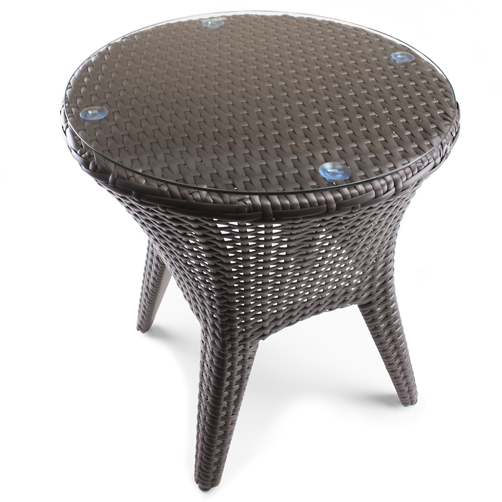 brybelly wicker patio accent table resin williams sonoma floor lamp tall pub and chairs teak outdoor coffee pottery barn inch round designer desk living room cabinets matching
