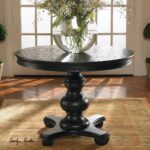 brynmore black round pedestal table zin home dining accent crystal glass lamp base furniture console cabinet small grey chair slim bedside ceramic outdoor side with wicker chairs 150x150