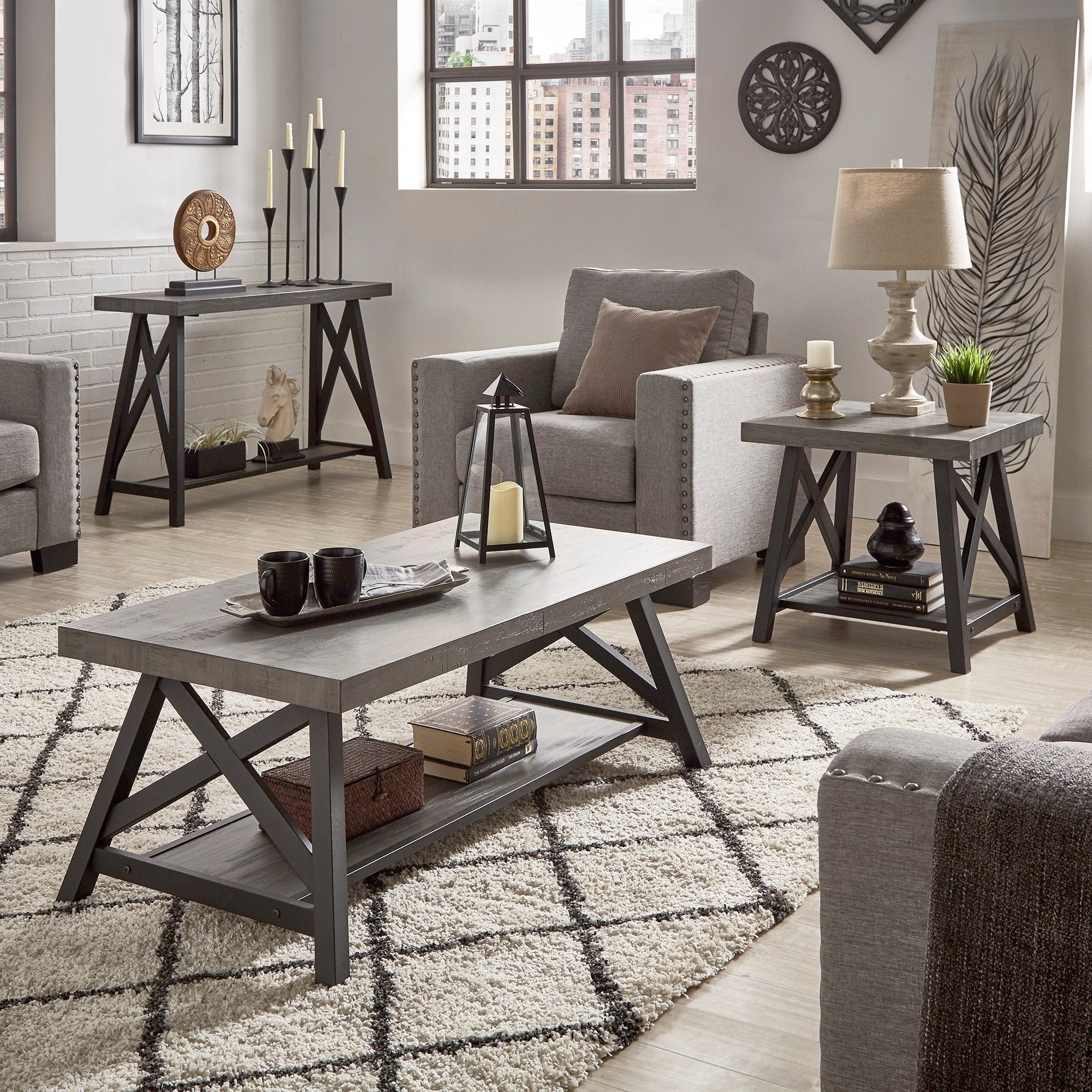 bryson rustic base accent tables inspire classic table mosaic garden bench windham tall cabinet with drawer solid wood dining cloth wall clock upcycled round distressed coffee