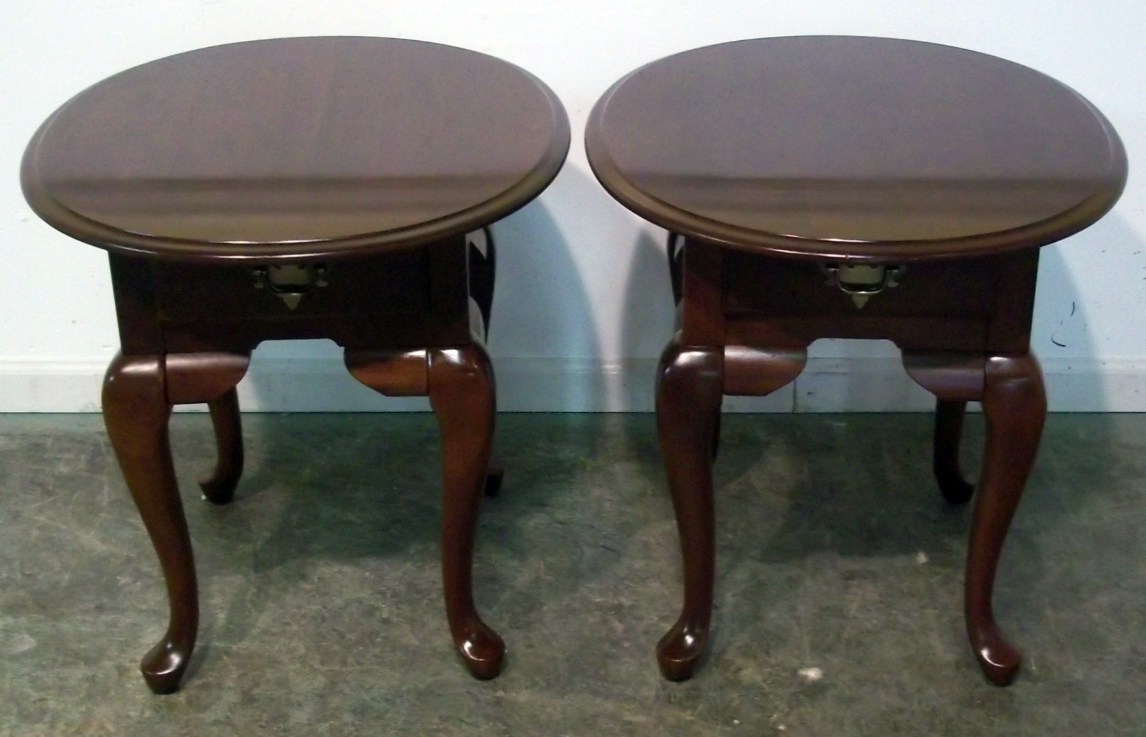 buffet furniture probably super great oval wood end table pair broyhill solid cherry queen anne tables pottery barn ott burl slab coffee usa ashley console sofa simple bedside