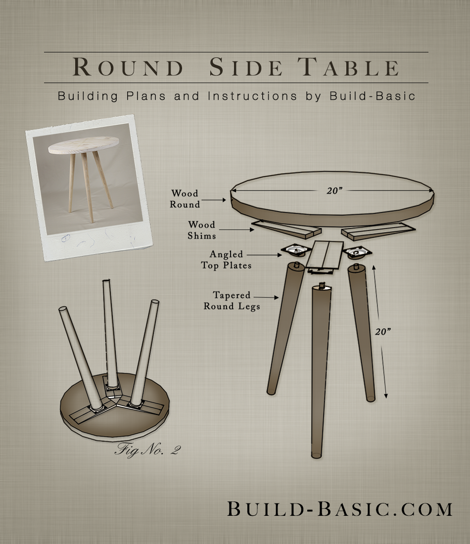 build round side table basic project diy accent plans target occasional tables wood pottery barn glass top silver grey tablecloth teal bedroom accessories dale tiffany dragonfly