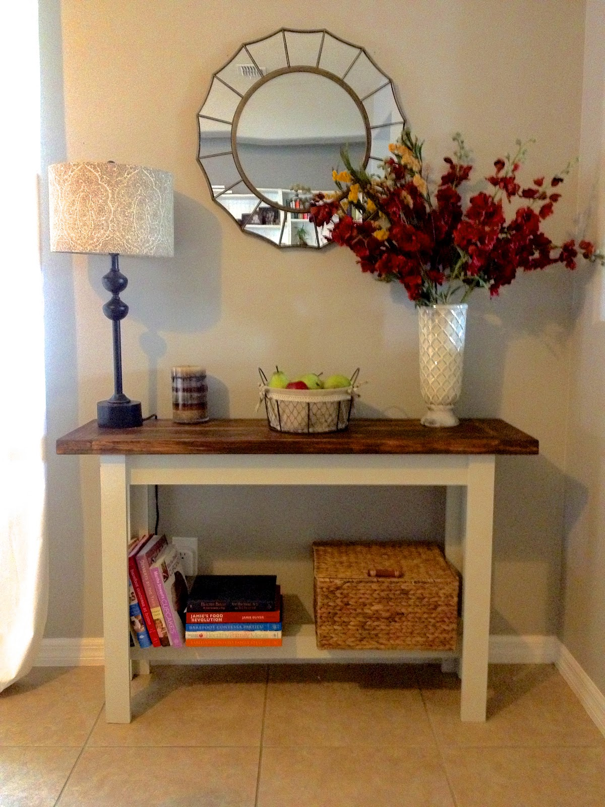 building the hyde pottery barn console table overthrow bar height jamie accent diy sofa ikea kids storage solutions with wine rack below drum throne backrest drawer coastal lamps