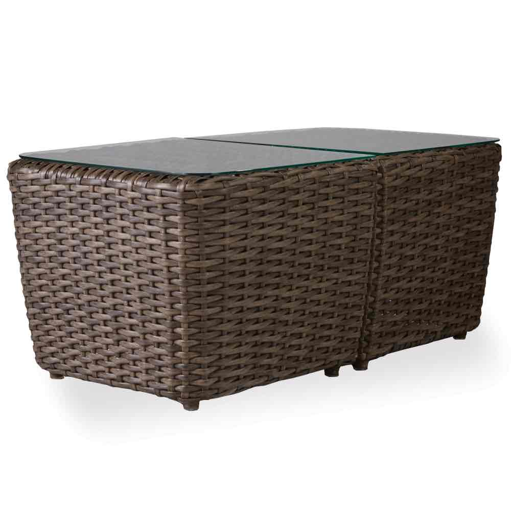 bunching wicker accent table lloyd flanders largo inch rectangular outdoor tables marble bedside with drawer slender console beach themed lamps living room accessories ideas