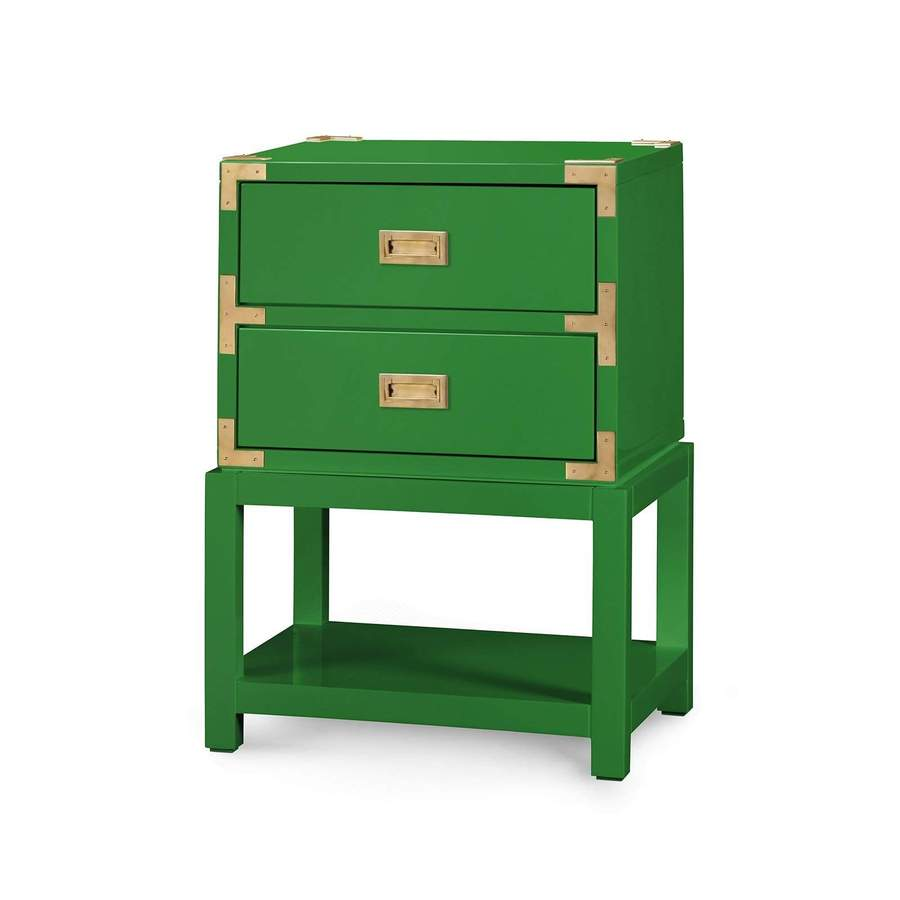 bungalow accent tables tsu emerald green table tansu drawer side blue hand home white outdoor end loveseat sleeper tablecloth for inch decorative tray legion furniture sliding