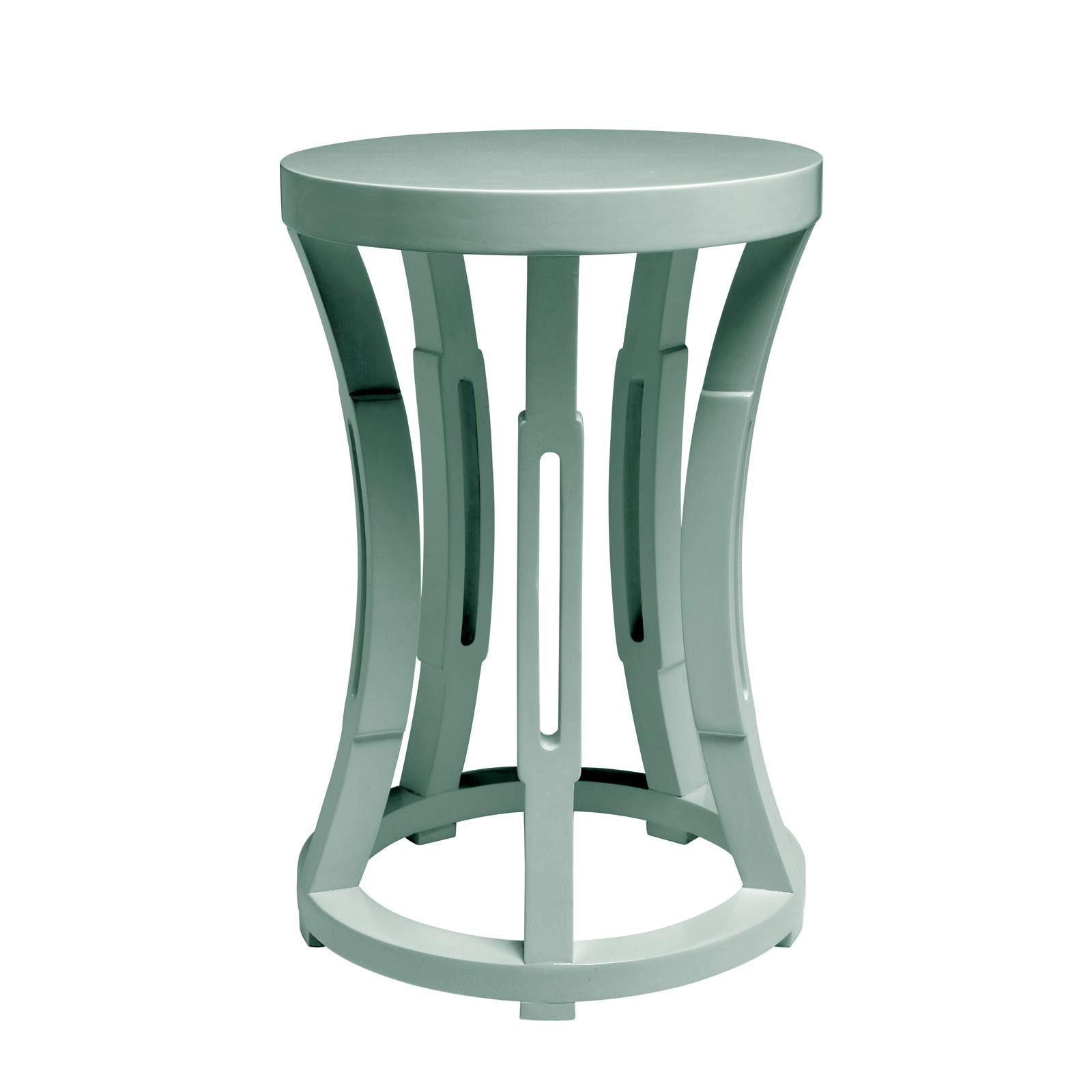 bungalow hourglass stool side table powder blue family room dark accent decorative lamps waterproof cover for garden and chairs pub tables bistro sets chinoiserie lamp metal