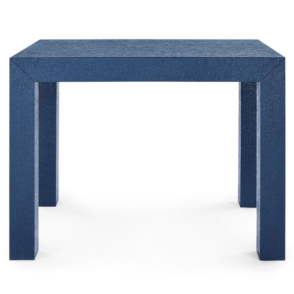 bungalow lacquered grasscloth parsons accent table navy blue psn storage drum ashley set bedroom furniture tiffany reading lamp harvest dining pottery barn square ott coffee