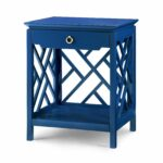 bungalow nantucket chippendale fretwork drawer side table accent blue furniture homedecor interiordesign sofa and end tables turquoise dresser small industrial cupboards for 150x150